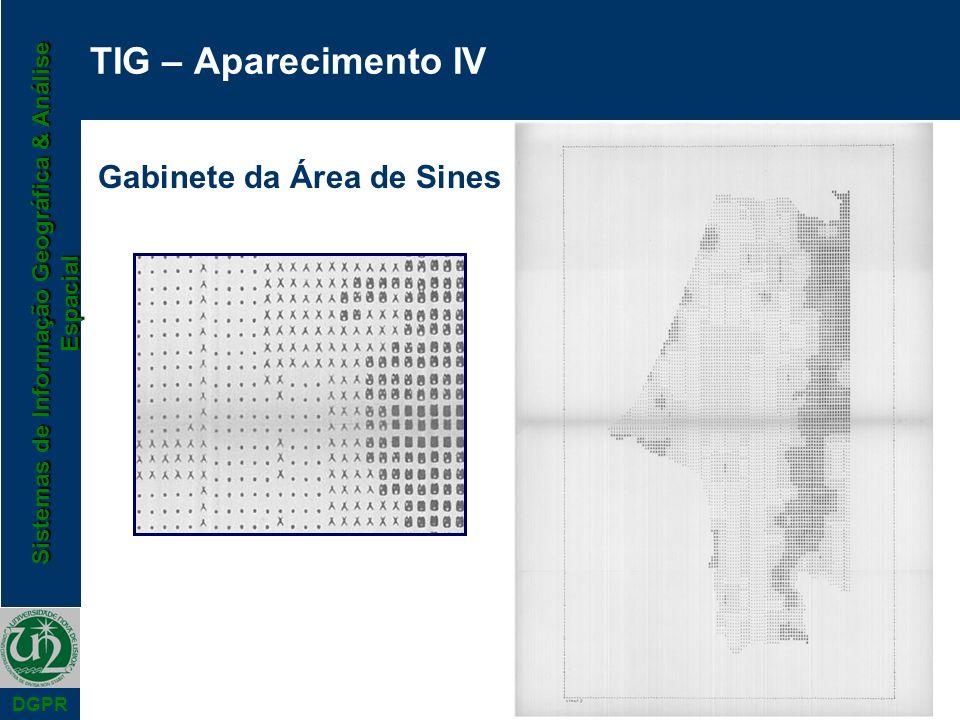 Sistemas de Informação Geográfica & Análise Espacial DGPR TIG – Aparecimento IV Gabinete da Área de Sines