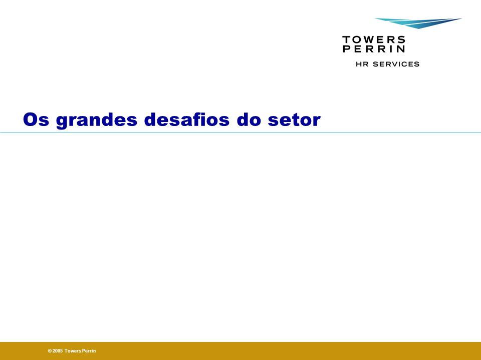 © 2005 Towers Perrin Os grandes desafios do setor