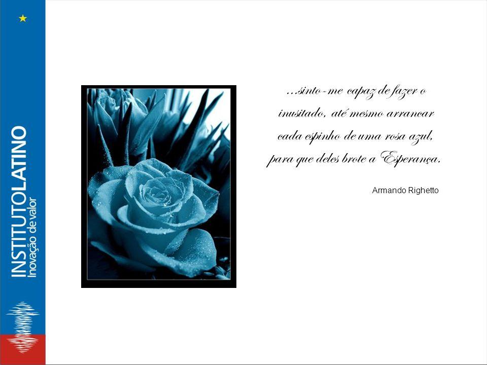 ...sinto-me capaz de fazer o inusitado, até mesmo arrancar cada espinho de uma rosa azul, para que deles brote a Esperança. Armando Righetto