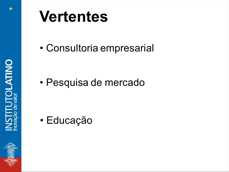 Vertentes Consultoria empresarial Pesquisa de mercado Educação