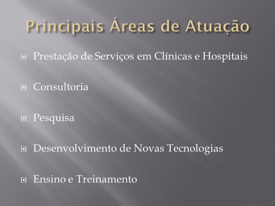 Prestação de Serviços em Clínicas e Hospitais Consultoria Pesquisa Desenvolvimento de Novas Tecnologias Ensino e Treinamento