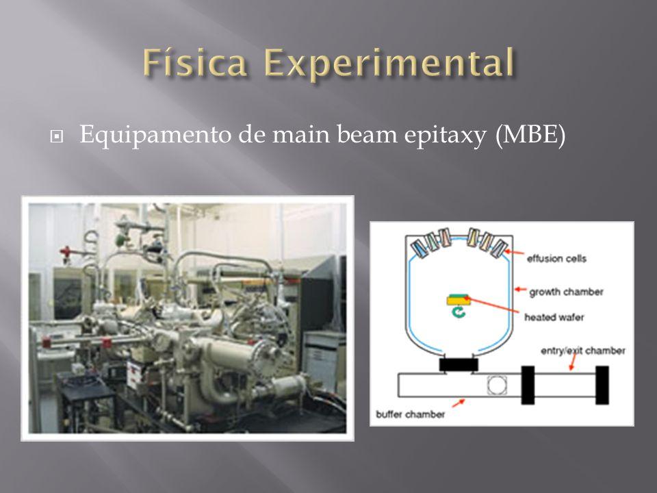 Equipamento de main beam epitaxy (MBE)