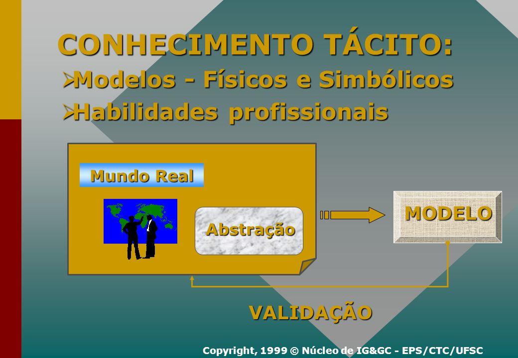 Por Que elaborar Modelos??? Copyright, 1999 © Núcleo de IG&GC - EPS/CTC/UFSC