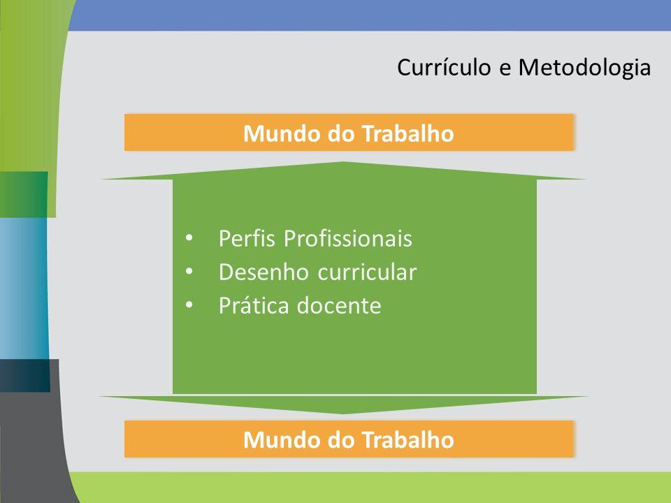 Currículo e Metodologia Mundo do Trabalho Perfis Profissionais Desenho curricular Prática docente