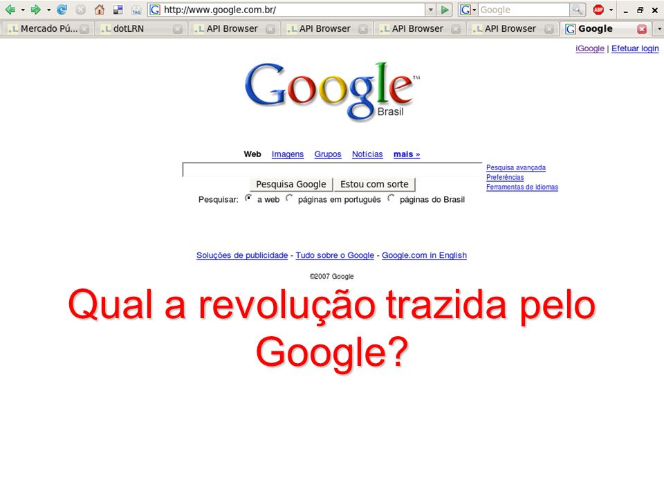 1010101 Qual a revolução trazida pelo Google?