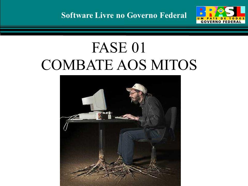 Software Livre no Governo Federal FASE 01 COMBATE AOS MITOS