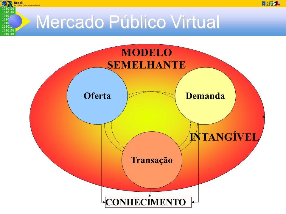 1010101 Mercado Público Virtual Demanda Transação Oferta MODELO SEMELHANTE INTANGÍVEL CONHECIMENTO