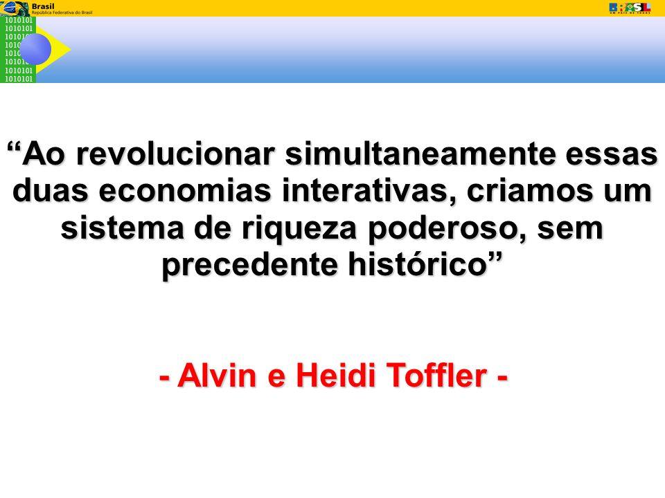 1010101 Ao revolucionar simultaneamente essas duas economias interativas, criamos um sistema de riqueza poderoso, sem precedente histórico - Alvin e H