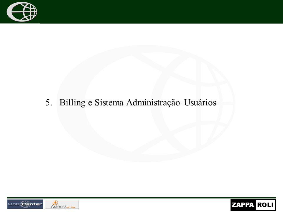 ZAPPAROLI 5.Billing e Sistema Administração Usuários