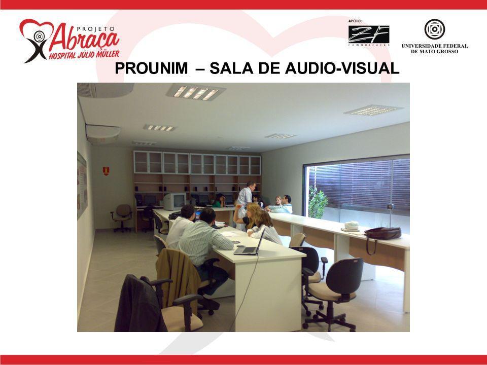 PROUNIM – SALA DE AUDIO-VISUAL