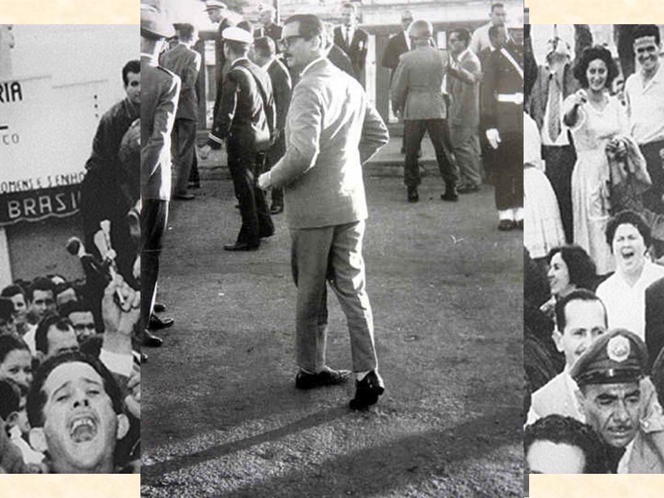 Figura de Jânio Quadros populista a poio de vários grupos sociais a ntipolítico c orpo estranho no cenário político p refeito e governador de São Paul