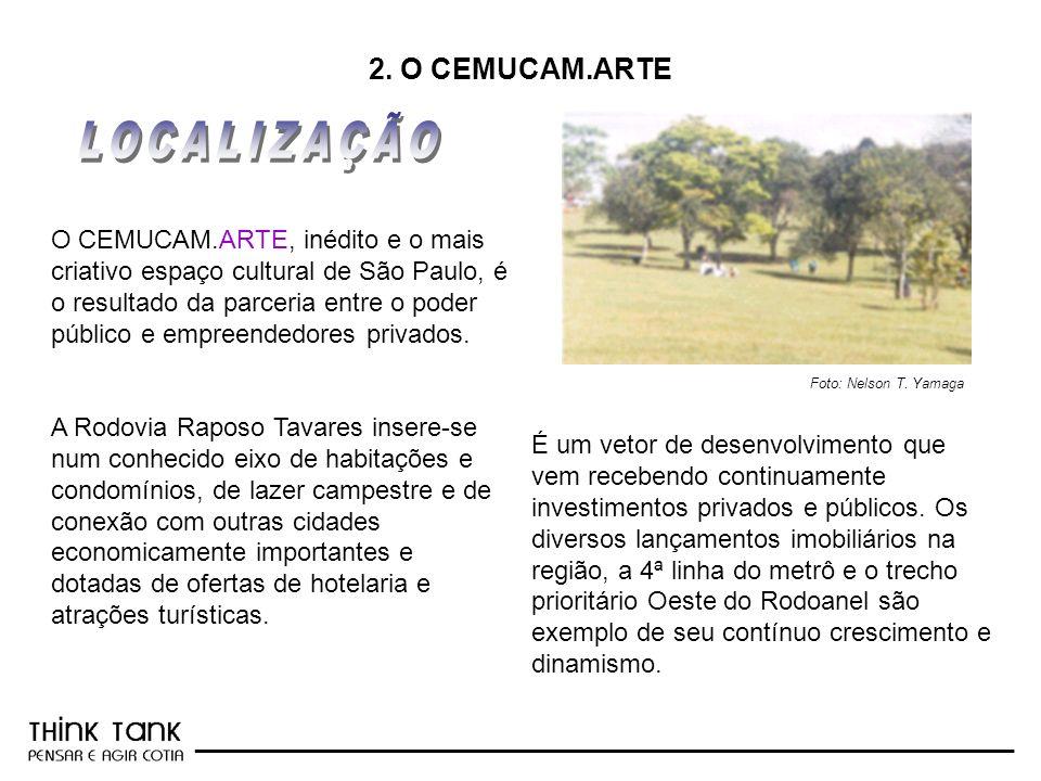 _________________________________________________________ 2. O CEMUCAM.ARTE O CEMUCAM.ARTE, inédito e o mais criativo espaço cultural de São Paulo, é