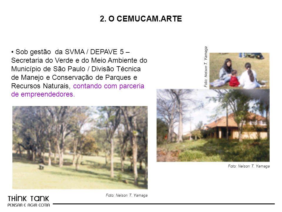 _________________________________________________________ 2. O CEMUCAM.ARTE Foto: Nelson T. Yamaga Sob gestão da SVMA / DEPAVE 5 – Secretaria do Verde