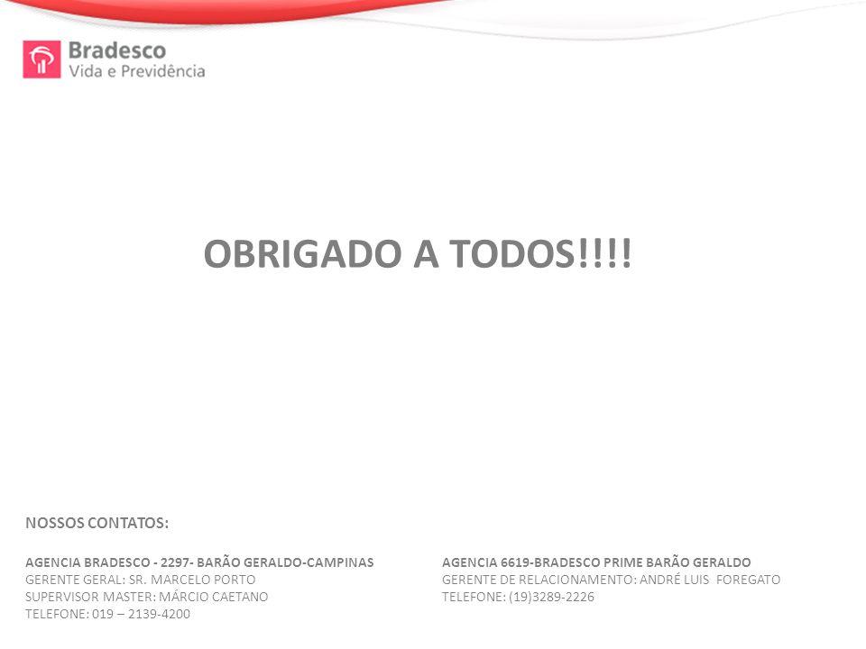 NOSSOS CONTATOS: AGENCIA BRADESCO - 2297- BARÃO GERALDO-CAMPINAS GERENTE GERAL: SR.