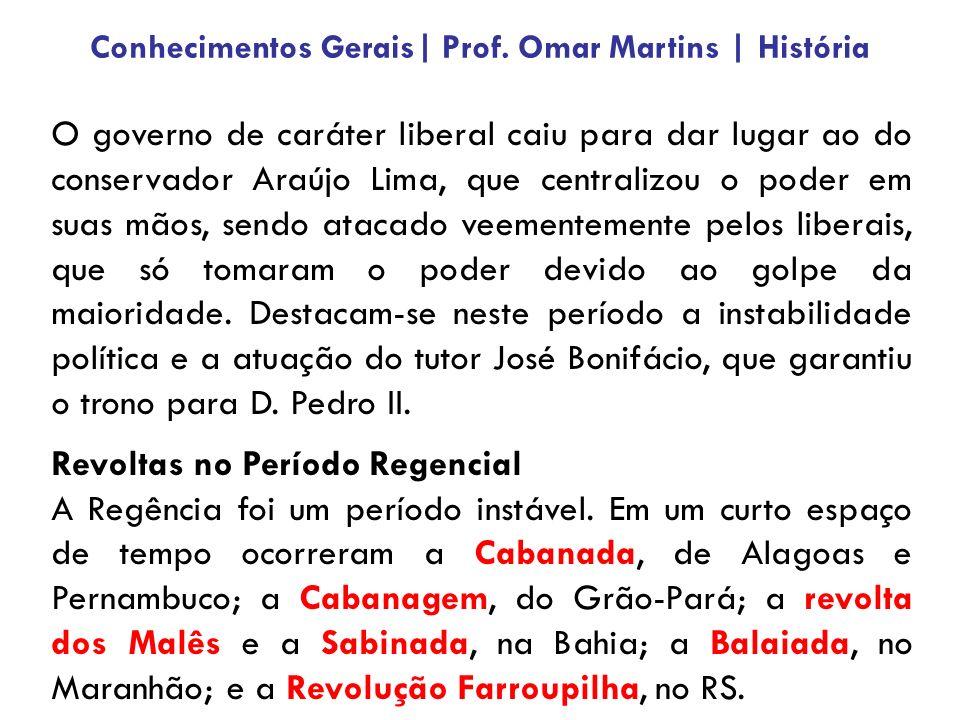 O governo de caráter liberal caiu para dar lugar ao do conservador Araújo Lima, que centralizou o poder em suas mãos, sendo atacado veementemente pelo