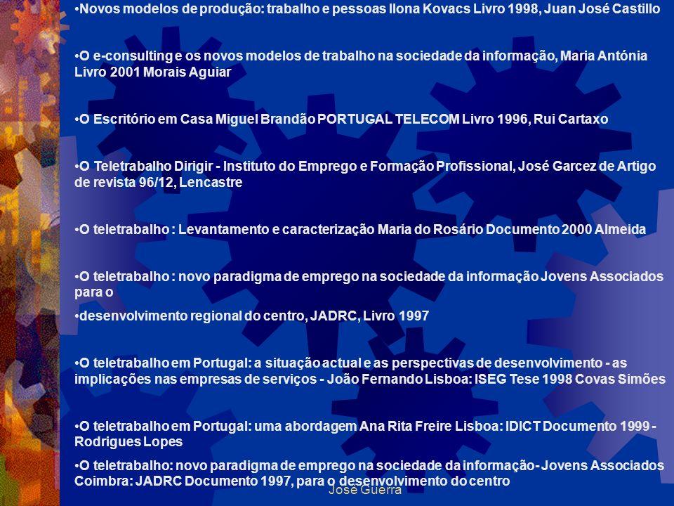 José Guerra Novos modelos de produção: trabalho e pessoas Ilona Kovacs Livro 1998, Juan José Castillo O e-consulting e os novos modelos de trabalho na