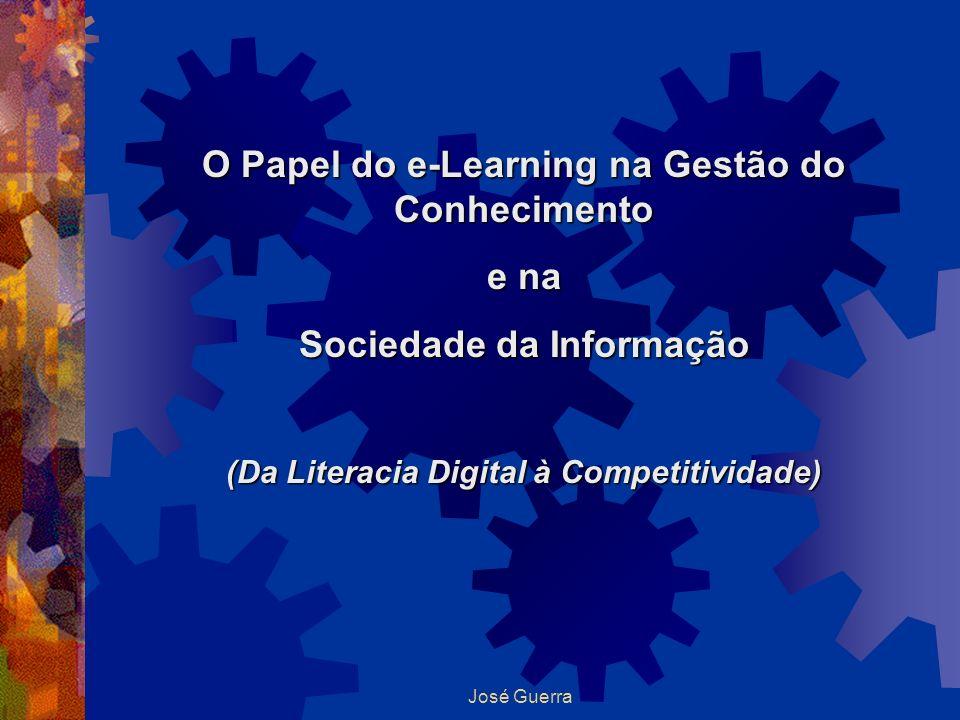 José Guerra O Papel do e-Learning na Gestão do Conhecimento e na Sociedade da Informação (Da Literacia Digital à Competitividade)
