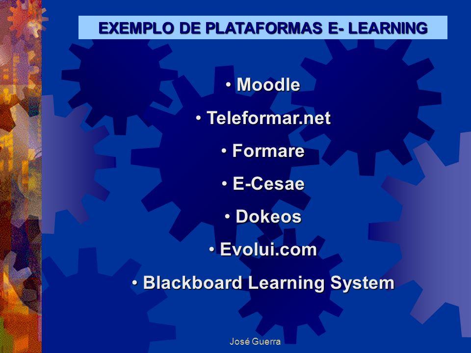 Plataformas identificadas e instalações EXEMPLO DE PLATAFORMAS E- LEARNING Moodle Moodle Teleformar.net Teleformar.net Formare Formare E-Cesae E-Cesae