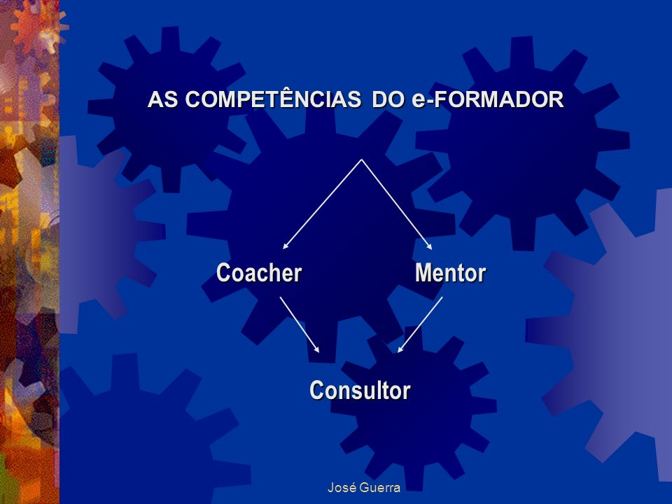 José Guerra AS COMPETÊNCIAS DO e -FORMADOR CoacherMentor Consultor