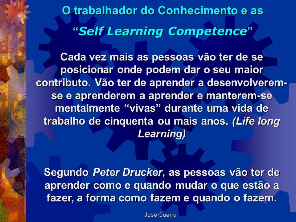 José Guerra O trabalhador do Conhecimento e as Self Learning Competence Self Learning Competence Cada vez mais as pessoas vão ter de se posicionar ond