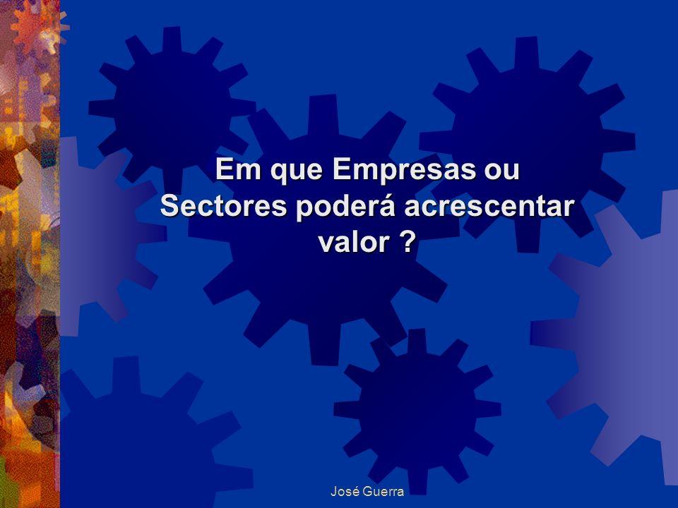 José Guerra Em que Empresas ou Sectores poderá acrescentar valor ?