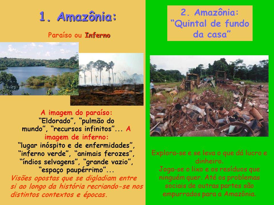 Inferno Paraíso ou Inferno A imagem do paraíso: Eldorado, pulmão do mundo, recursos infinitos...