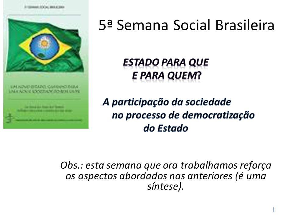 5ª Semana Social Brasileira 1
