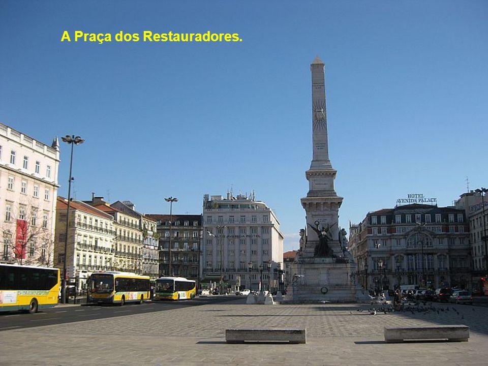 A Praça Marqués de Pombal no centro da cidade.
