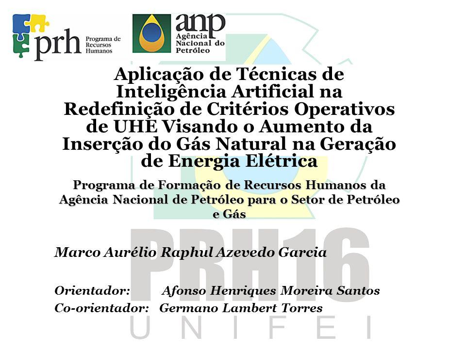 Aplicação de Técnicas de Inteligência Artificial na Redefinição de Critérios Operativos de UHE Visando o Aumento da Inserção do Gás Natural na Geração