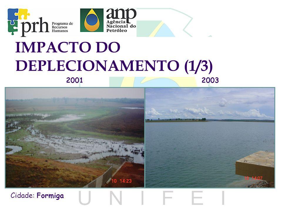 2003 Cidade: Formiga 2001 IMPACTO DO DEPLECIONAMENTO (1/3)