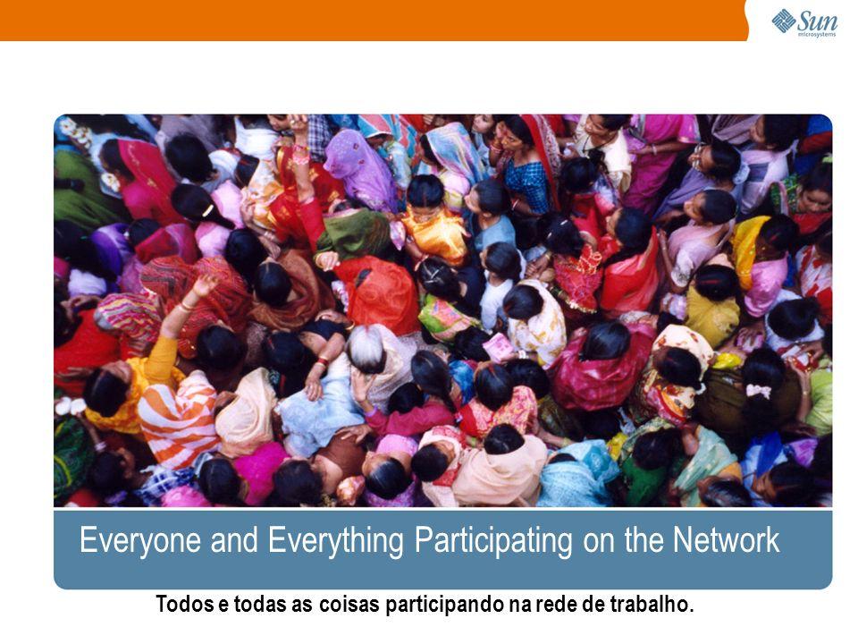 Everyone and Everything Participating on the Network Todos e todas as coisas participando na rede de trabalho.
