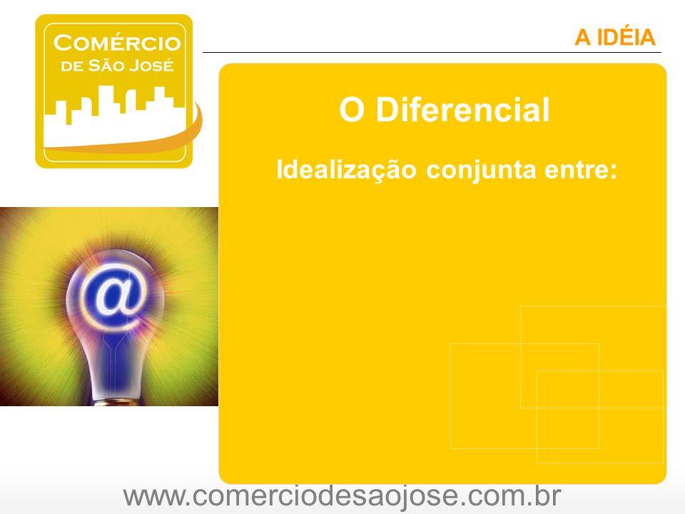 www.comerciodesaojose.com.br A IDÉIA O Diferencial Idealização conjunta entre: