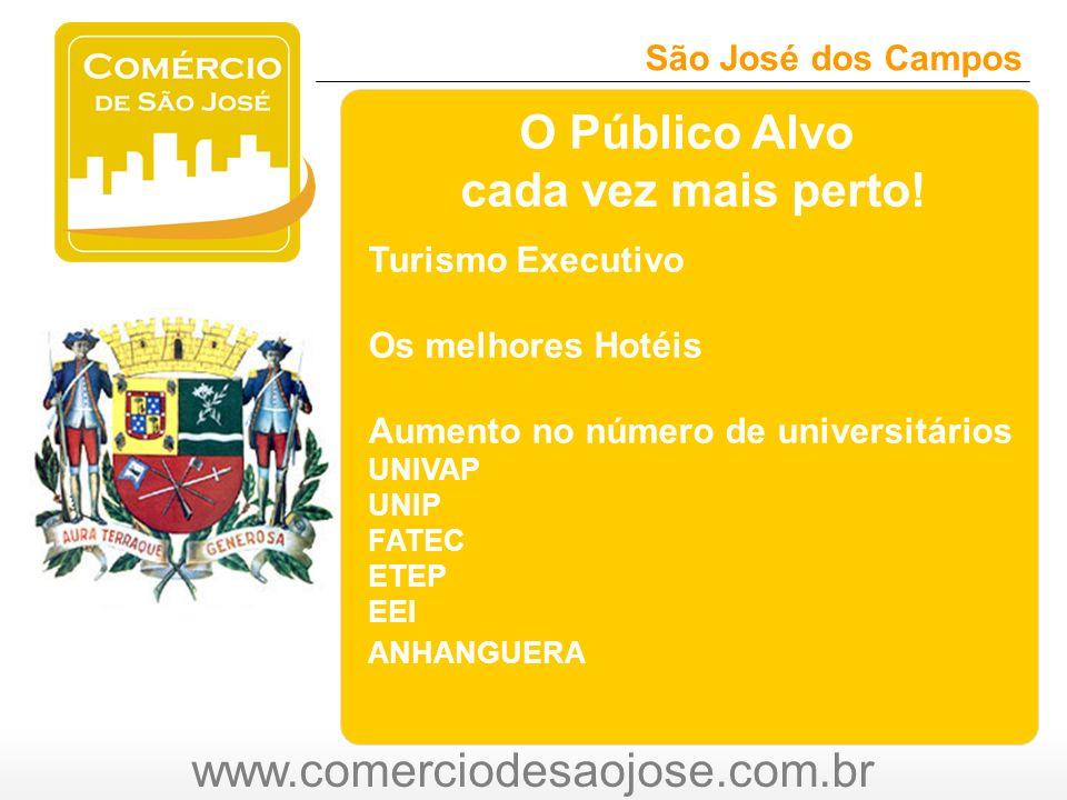 www.comerciodesaojose.com.br São José dos Campos O O Público Alvo cada vez mais perto.