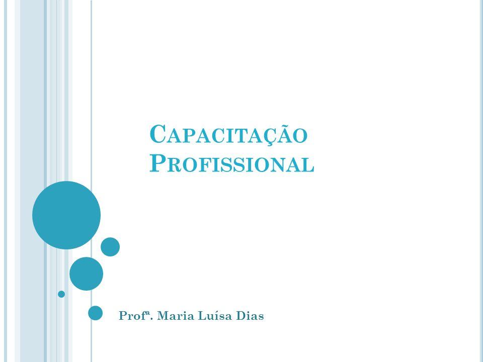 C APACITAÇÃO P ROFISSIONAL Profª. Maria Luísa Dias