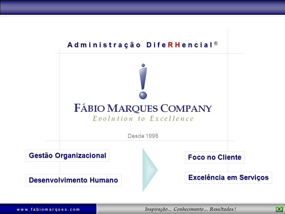 Inspiração… Conhecimento… Resultados ! A d m i n i s t r a ç ã o D i f e R H e n c i a l ® Gestão Organizacional Desenvolvimento Humano Foco no Client