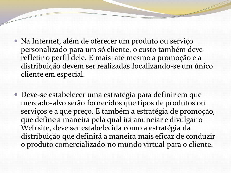 Produto Na Internet, além de oferecer os produtos de acordo com o gosto e a necessidade de cada cliente, deve-se oferecer desde o serviço para a venda até o SAC.