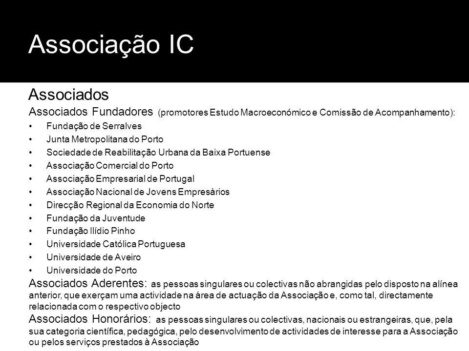 Associação IC Associados Associados Fundadores (promotores Estudo Macroeconómico e Comissão de Acompanhamento): Fundação de Serralves Junta Metropolit
