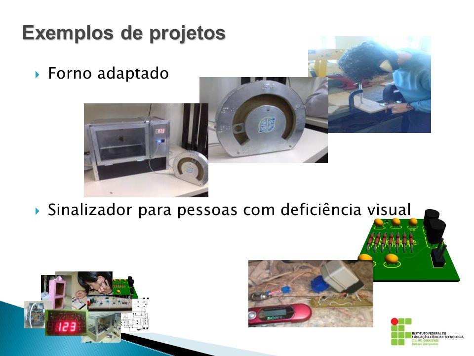 Exemplos de projetos Forno adaptado Sinalizador para pessoas com deficiência visual