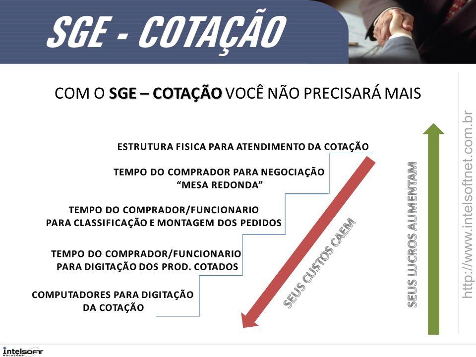 AINDA ESTÁ EM DUVIDA 5 BONS MOTIVOS PARA TER O SGE - COTAÇÃO