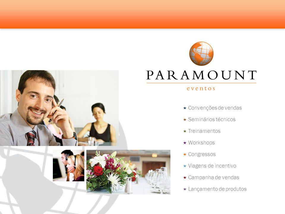 Convenções de vendas Seminários técnicos Treinamentos Workshops Congressos Viagens de incentivo Campanha de vendas Lançamento de produtos