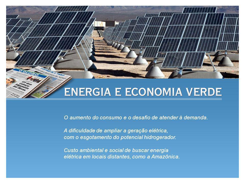O aumento do consumo e o desafio de atender à demanda. A dificuldade de ampliar a geração elétrica, com o esgotamento do potencial hidrogerador. Custo