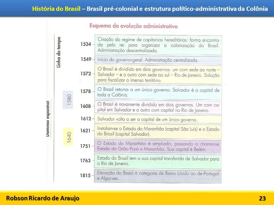 Robson Ricardo de Araujo História do Brasil – Brasil pré-colonial e estrutura político-administrativa da Colônia 23