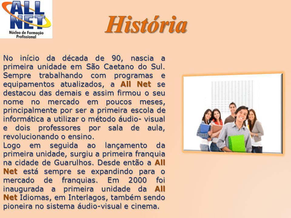No início da década de 90, nascia a primeira unidade em São Caetano do Sul. Sempre trabalhando com programas e equipamentos atualizados, a All Net se