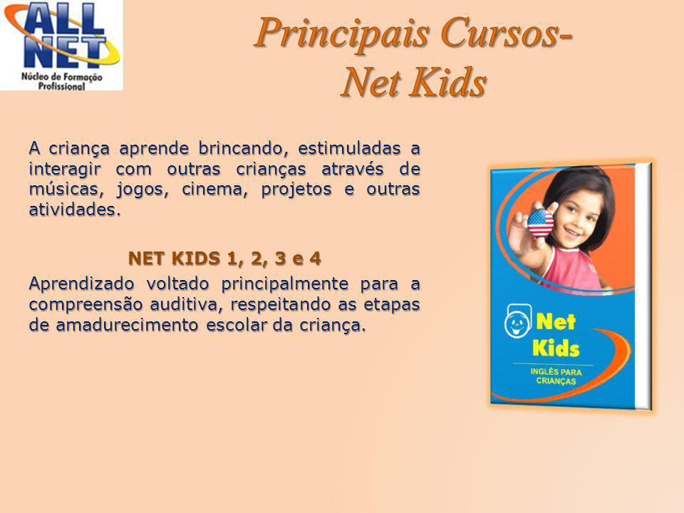 A criança aprende brincando, estimuladas a interagir com outras crianças através de músicas, jogos, cinema, projetos e outras atividades. NET KIDS 1,