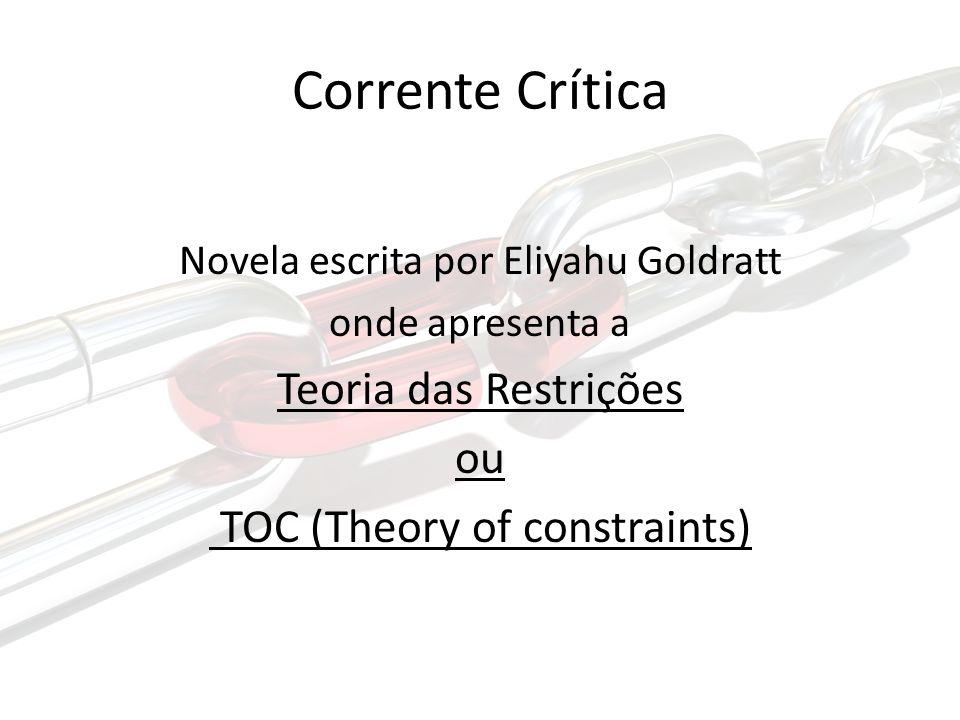 Corrente Crítica Novela escrita por Eliyahu Goldratt onde apresenta a Teoria das Restrições ou TOC (Theory of constraints)