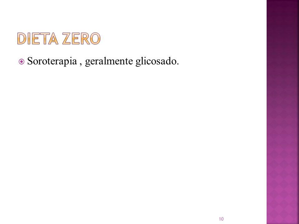 Soroterapia, geralmente glicosado. 10