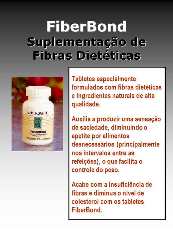 FiberBond Suplementação de Fibras Dietéticas Tabletes especialmente formulados com fibras dietéticas e ingredientes naturais de alta qualidade. Auxili