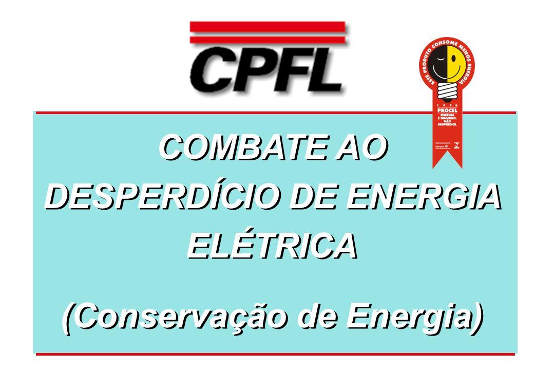 COMBATE AO DESPERDÍCIO DE ENERGIA ELÉTRICA (Conservação de Energia) COMBATE AO DESPERDÍCIO DE ENERGIA ELÉTRICA (Conservação de Energia)