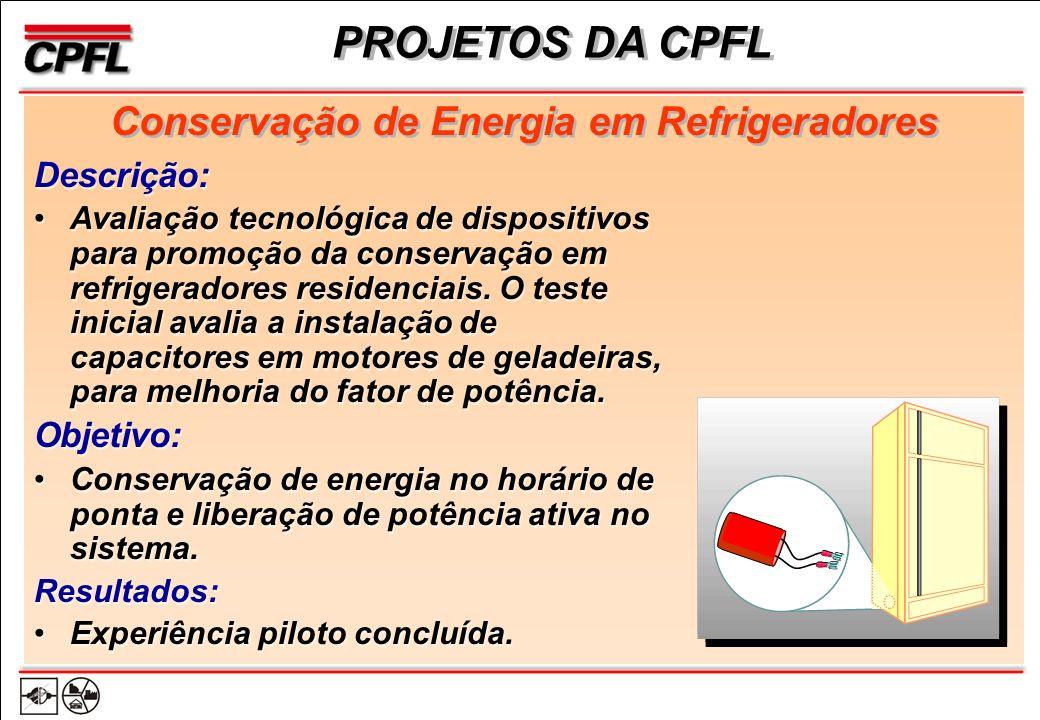 Descrição: Avaliação tecnológica de dispositivos para promoção da conservação em refrigeradores residenciais.