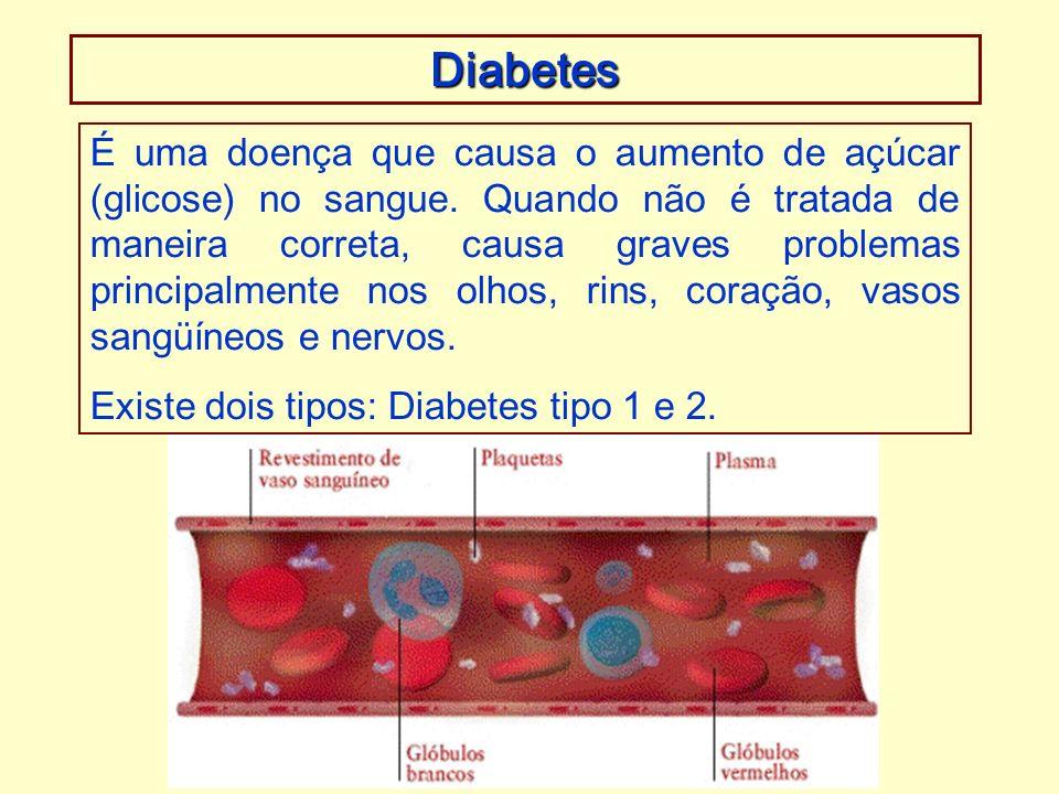 É uma doença que causa o aumento de açúcar (glicose) no sangue.